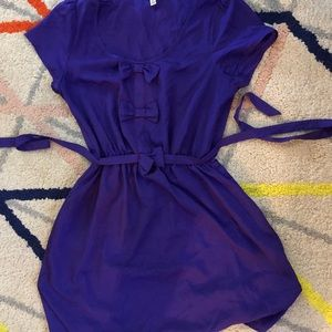 Retro bow mini dress